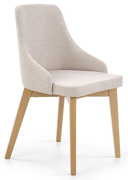 Białe krzesła do nowoczesnego salonu